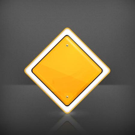main street: Priority road sign