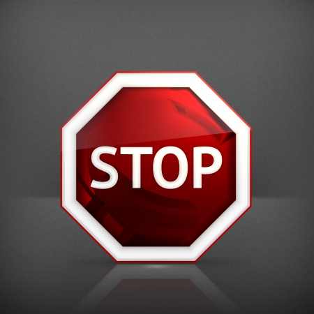 signal stop: Stop sign Illustration