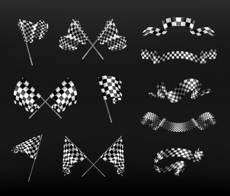 checker flag: Checkered flags Illustration