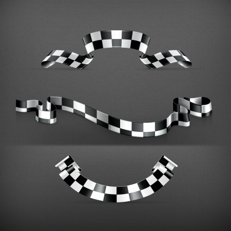 Checkered flags, set Stock Vector - 19621430