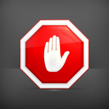 stop sign: Stop sign Illustration