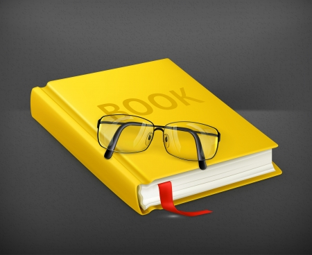 Book and glasses Stock Vector - 19621395