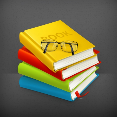 Books and glasses Stock Vector - 19621399