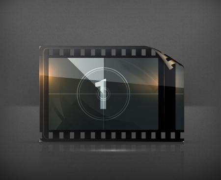 negative film: Film strip Illustration
