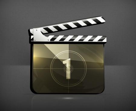 Movie clap Vector