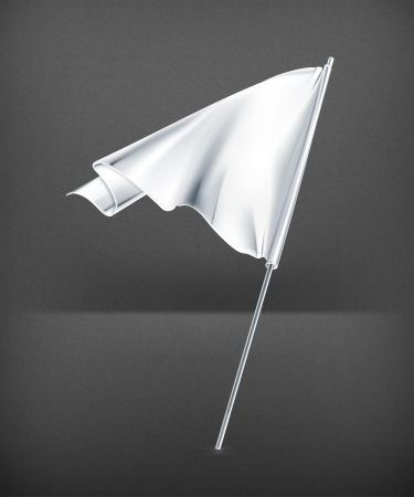 White flag Stock Vector - 19621413