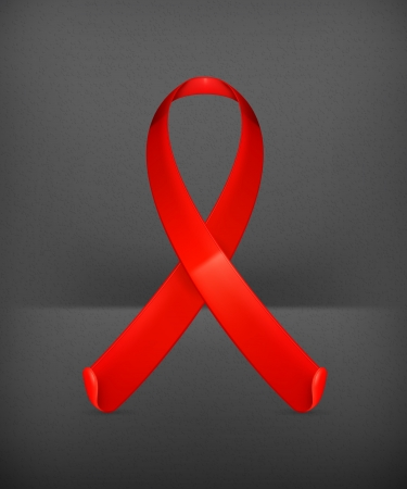 hiv aids: AIDS red ribbon