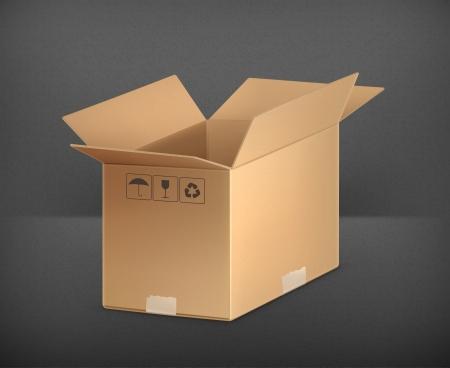 carton box: Open carton box