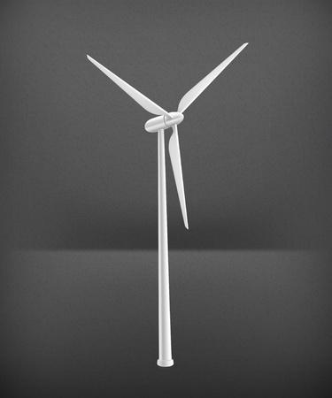 wind vane: Wind Turbine Illustration