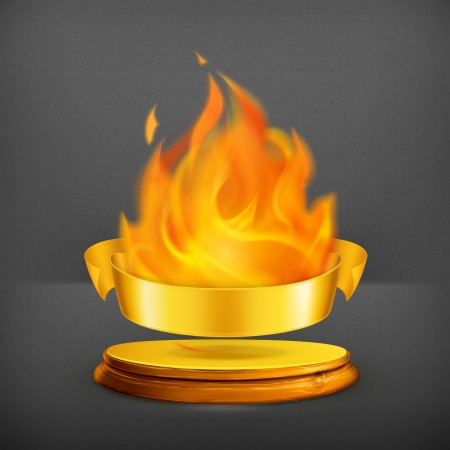 Golden flame Stock Vector - 19621800