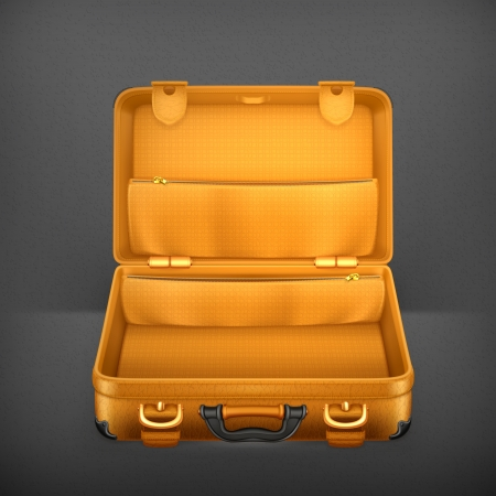 suitcases: Open Koffer