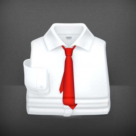 White Dress shirt Stock Vector - 19621765