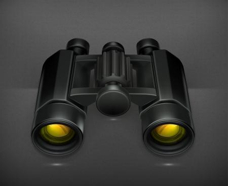 observe: Binoculars Illustration