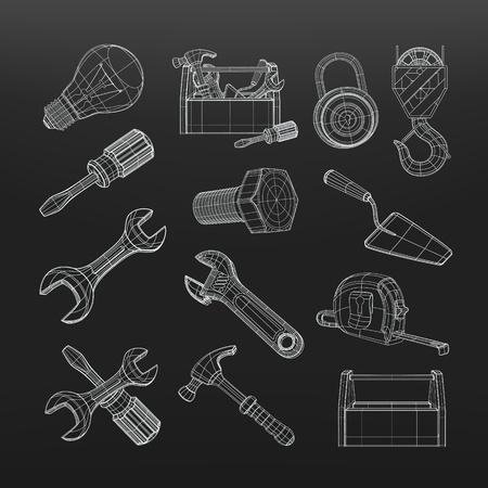 Drawing tools set Stock Vector - 19621690