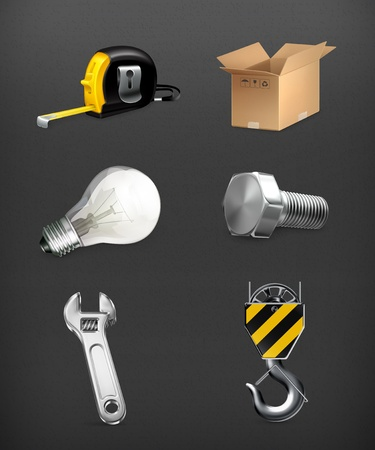 Industrial icons set Stock Vector - 19621918
