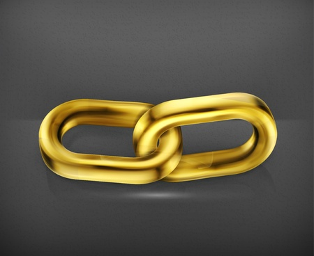 metalworking: Gold chain link