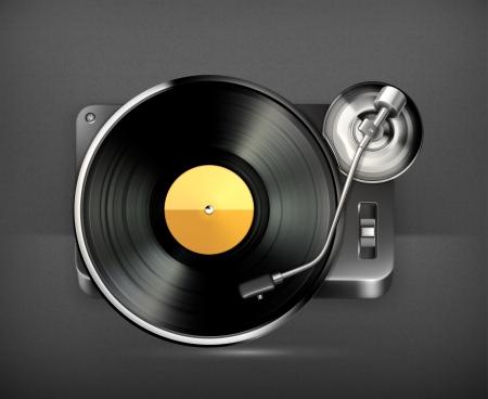 vinyl disk player: Phonograph turntable