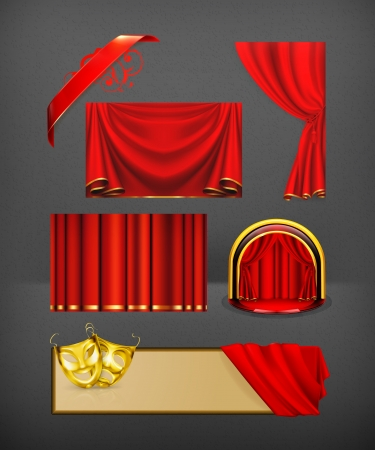 show window: Theater set Illustration