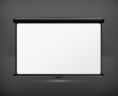 projection screen: Pantalla de proyecci?n en blanco Vectores