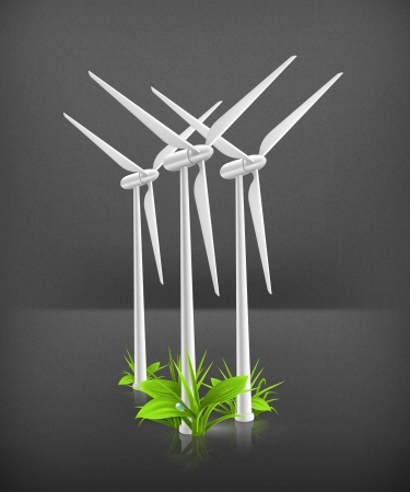 wind turbine: Eco concept Illustration