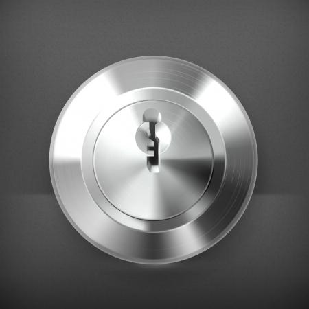 steel door: Keyhole