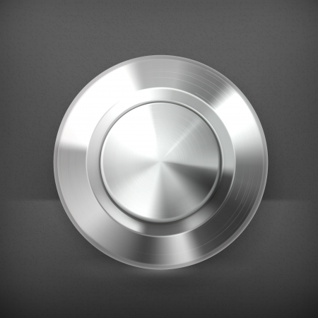 circle objects: Metal button Illustration