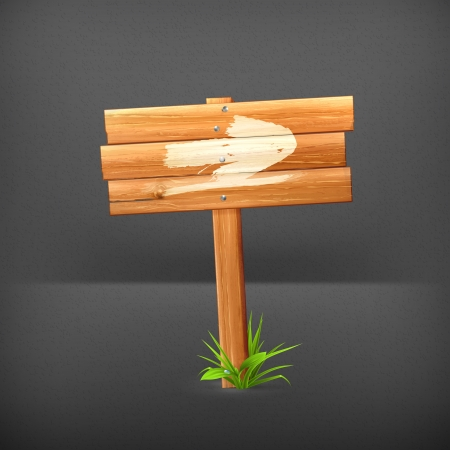 plywood: Wooden sign, arrow
