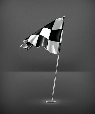 Checkered golf flag Stock Vector - 19797748