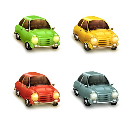 Cars, icons set Vector