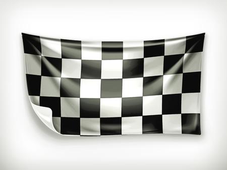 Checkered banner
