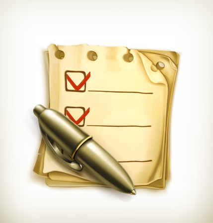 Check list icon Stock Vector - 22197476