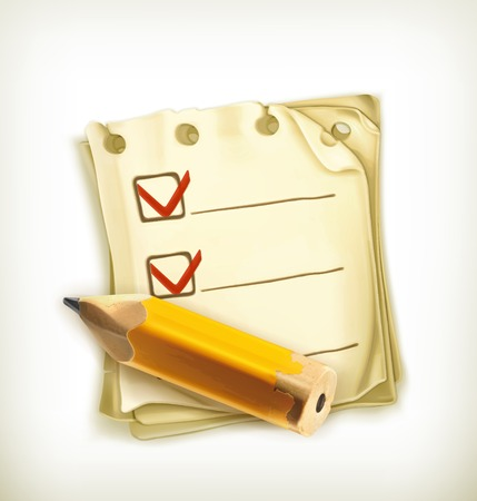 Check list, icon Vector
