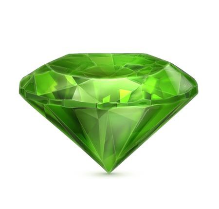 Emerald green icon Illustration