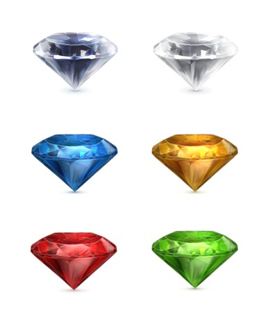 Gems set of icons Vector