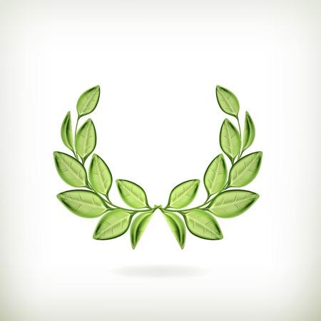 Laurel wreath, green award Illustration