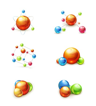 molecule icon set Stock Vector - 22197521