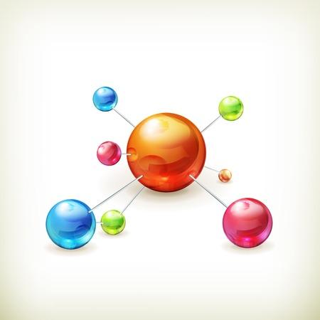 Icono molécula Foto de archivo - 22197522