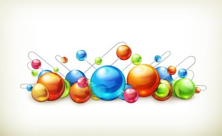 molecules and atoms illustration Vector