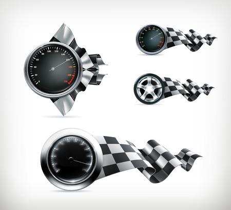 racing: Racing emblems Illustration