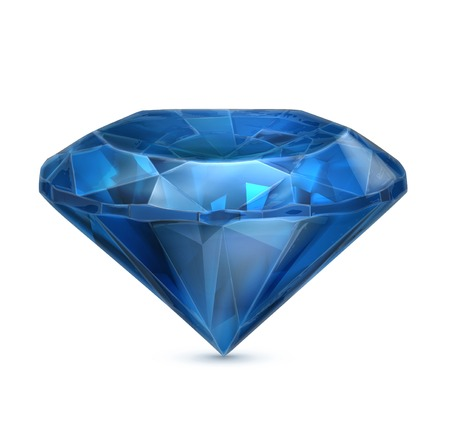 saffier: Sapphire blauw pictogram Stock Illustratie
