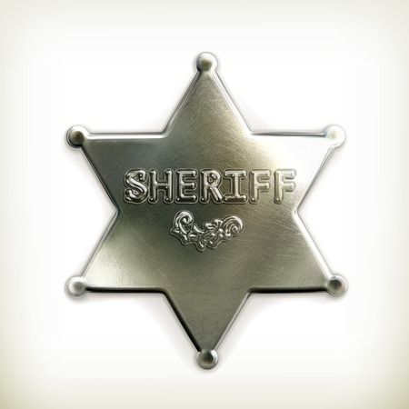 police badge: Sheriff star icon