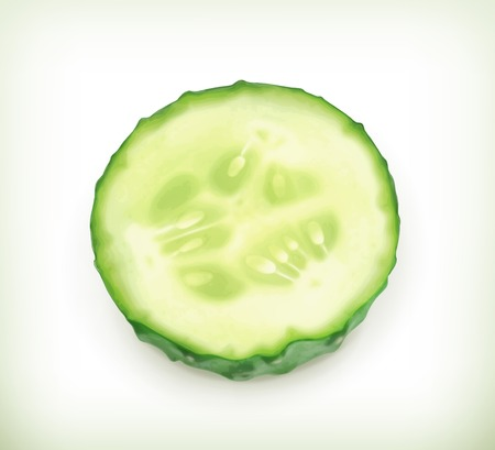 cucumber slice: Slice of cucumber