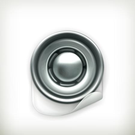snap: Snap fastener icon Illustration