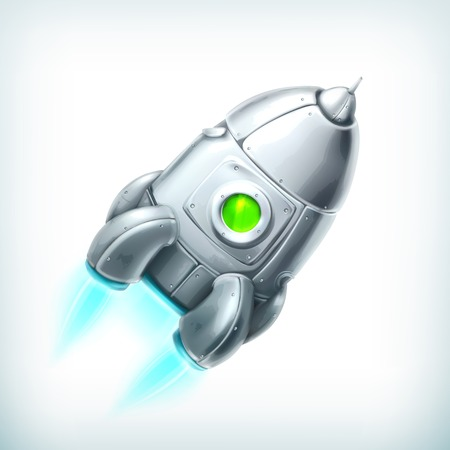 Spacecraft, icon Illustration