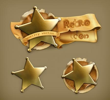 Sheriff, retro icon