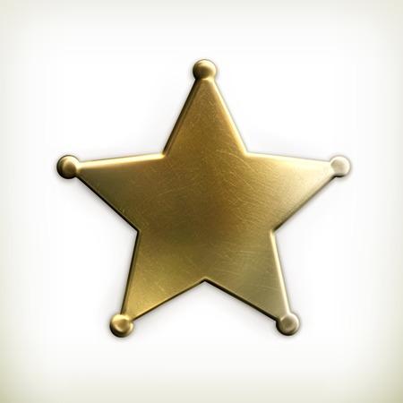 Icono de la estrella del sheriff