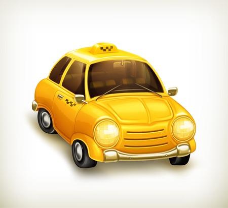 yellow cab: Taxi vector icon