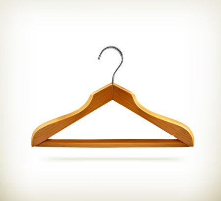 Wooden clothes hangers icon Vector