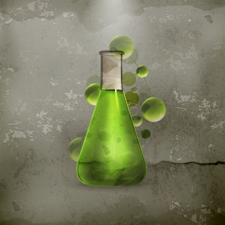Laboratory flask old style Vector