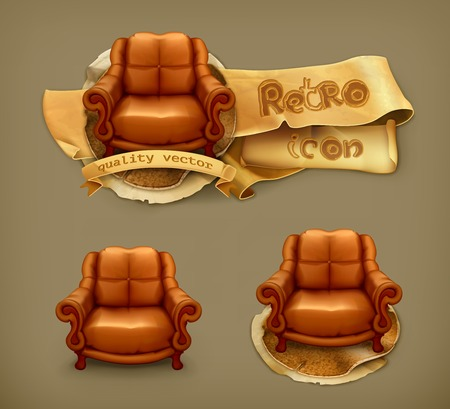leather chair: Chair icon